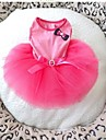 Dog Dress Pink Summer Bowknot Wedding-Doglemi