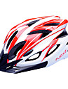 FJQXZ EPS+PC Red and White Integrally-molded Cycling Helmet(18 Vents)