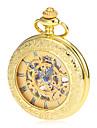 Мужской Карманные часы Механические часы С гравировкой Механические, с ручным заводом сплав Группа Винтаж Люкс Золотистый