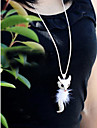 Fox Diamond Sweater Chain Long Dress Accessories Pendant Necklace