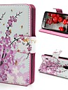 Wallet Style Plum Blossom Pattern PU Leather with Stand Full Body Case Cover for LG P715 Optimus L7 II