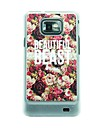 Beautiful Roses Leather Vein Pattern Hard Case for Samsung Galaxy S2 I9100