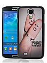 Finger Kiss Love Pattern Plastic Hard Protective Case for Samsung Galaxy S4 i9500