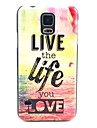 Live Life Love Pattern Hard Case Cover for Samsung Galaxy S5 I9600