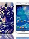 Caso Tiger Eyeing Diseno duro con Paquete de 3 protectores de pantalla para Samsung Galaxy S4 mini-I9190