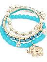 (1 PC) Bracelet a breloques en alliage de Sweet 23cm femmes (jaune, bleu, rouge fonce, rose, orange, pourpre, rouge)