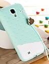 Cas chocolat a la creme glacee colore 3D souple en silicone pour Samsung Galaxy i9500 S4 (couleurs assorties)