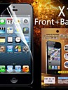 protection hd avant + arrière protecteur d'écran pour l'iphone 4/4s