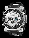 stile militare orologio dual fusi orari multifunzione resistente all\acqua degli uomini