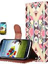 Fashion patroon pu lederen Magneet Wallet Credit Card Holder Flip Stand Case Cover voor Samsung Galaxy S3 I9300