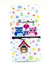 Soft Case Motif Cartoon Owl famille pour Samsung Galaxy I8552 Win
