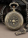 Men's Round Hero Fire Fighter Quartz Analog Pocket Watch Cool Watch Unique Watch