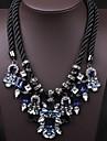 Женский Заявление ожерелья Кристалл Драгоценный камень Заявление ювелирные изделия Pоскошные ювелирные изделия Тёмно-синий Бижутерия