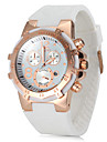 Women\'s Watch Rose Gold Round Dial Silicone Strap