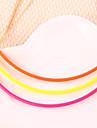 europa fluorescentes de color multicolor del caramelo colores apartado femenino de collar corto punky simples (color al azar) curvada