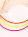 Europe fluorescent color multicolor candy colors short paragraph female punk necklace simple curved(random color)