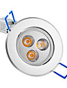 3W 3 High Power LED 250 LM Warm White Recessed Retrofit LED Ceiling Lights / LED Recessed Lights AC 85-265 V