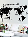 World Map Pattern Wall Sticker(1PCS)