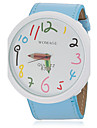 Femme Montre Tendance Quartz Polyurethane Bande Bleu Orange Marron Rose Violet Jaune Violet Jaune Rouge Rose Marron Bleu