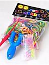 baoguang®300pcs couleur arc-en-métier mode bande de caoutchouc de métier (1pcs à propulser et le crochet de couleur 12pcs, couleurs assorties)