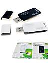 SIYOTEAM SY-368 2-em-1 USB 2.0 leitor de cartao para cartao SD / MicroSD (cor aleatoria)