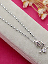 Fashion Silver Two Dolphin Shape Diamanted Pendent Necklace(1 Pc)