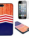 Triangle Big Wave Pattern Hard Case with Clear Screen Protector for iPhone 5/5S