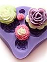 Four Flowers Shaped Bake fandant mold,L7cm*W7.3cm*H1.3cm