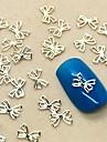 200pcs linda fatia projeto gravata borboleta de metal nail art decoracao