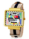 JUBAOLI® Men\'s TV Screen Pattern Strip Fabric Band Quartz Wrist Watch (Assorted Colors) Cool Watch Unique Watch