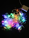 5M 40-LED Multicolor fjäril ljus remsa bröllopsfest jullampa (AC220V)