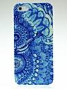 Duas flores azuis Padrão Hard Case para iPhone 5/5S