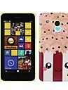 Plastic Kawaii Padrao Pipoca caso capa para o Nokia Lumia 630