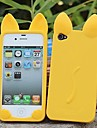 New 3D Cat Ears Silicone Soft Case for iPhone 4/4S (Assorted Colors)