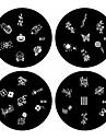 1шт ногтей штамп штамповка изображения шаблон пластины б серии No.37-40 (ассорти шаблон)