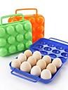 12 girds πλαστικά κουτιά αυγού (τυχαία χρώμα)