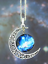 Necklace Pendant Necklaces Jewelry Wedding / Party / Daily / Casual Fashion Alloy / Glass Silver / Blue 1pc Gift