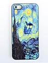 couverture arrière dure nuit étoilée design en métal pour iPhone 4 / 4S