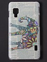 Relief Designed Colorful Elephant Pattern PC Hard Case for LG L5 ll