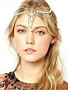 imitação de pérolas de cristal cadeia de charme pepita cabelo elegante coroa de cabeça