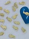 200pcs gato dourado arte fatia design de metal decoracao de unhas
