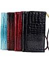 крокодил PU кожаный бумажник PU кожаный защитный чехол с подставкой для Sansung S3 / S4 / S5 и Примечание 2 / Note3