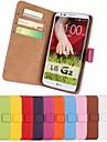 Para Capinha LG Porta-Cartao / Carteira / Com Suporte / Flip Capinha Corpo Inteiro Capinha Cor Unica Rigida Couro PU LG LG G7
