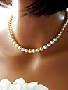 Necklace Strands Necklaces / Pearl Necklace Jewelry Wedding / Party / Daily / Casual Fashion Pearl / Imitation Pearl White 1pc Gift