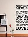 Правило семья цитатой украшение дома наклейки наклейки на стены jiubai ™
