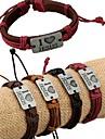 Браслеты ID браслеты Сплав Кожа Любовь Уникальный дизайн Мода Повседневные Бижутерия Подарок1шт