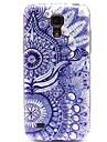 Blue Gerbera Flowers Pattern Hard Plastic Cases for  Samsung Galaxy S4 mini I9190