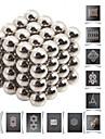 64pcs buckyballs diy 5 milímetros e buckycubes blocos magnéticos brinquedos bolas de prata