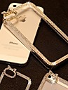 DSB® Luxury Crystal Rhinestone Diamond Bling Transparent Clear Hard Back Case Cover for iPhone 5/5S