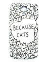 padrão cartoon gato fina cobertura caso difícil para Samsung Galaxy S4 mini-i9190